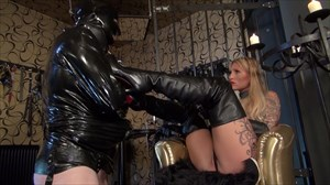 Calea Toxic -Smoking and Overknee Boot Worship Leather Boots Smoking